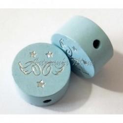 Círculo 20 mm madera azul...
