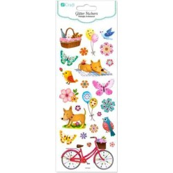 GLITTER STICKERS - SPRING...