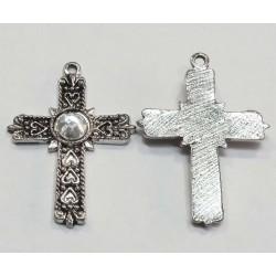 Cruz plata tibetana 30 x 21 mm