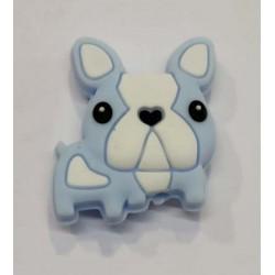 Perro Bulldog de silicona...