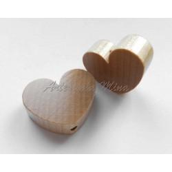 Corazón grande de madera...