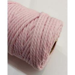 Cordón macramé algodón rosa...