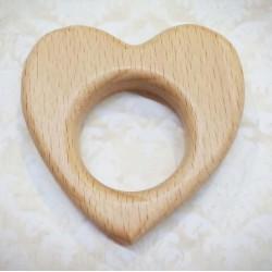 Corazón de madera sin lacar...