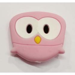 Búho de silicona rosa 29 x...