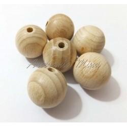 Bola de madera haya natural...