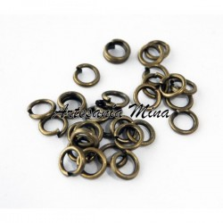 Anilla 4 mm. bronce (20 unds)