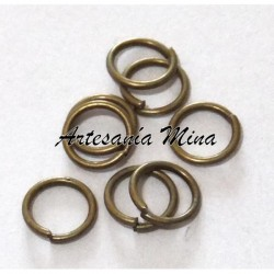 Anilla 8 mm bronce (10 unds)