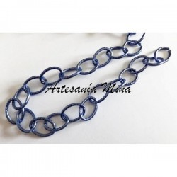 Cadena aluminio azul 19 x...
