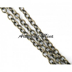 Cadena metal color bronce 4...