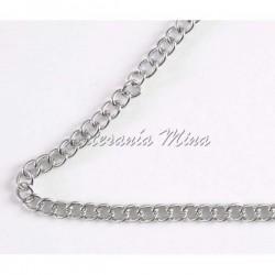 Cadena metal plata tipo...