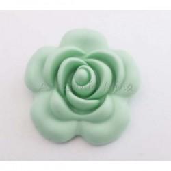 Flor de silicona 40 mm menta