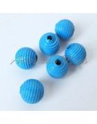 Bolas de madera 10 mm rayada antibaba